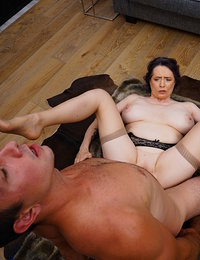 Naughy cougar Tigger getting horny with her man