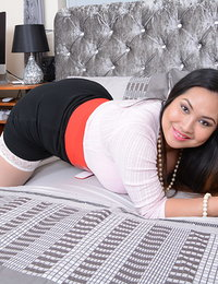 Cute Asian housewife Amy Latina shows off her naughty side