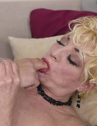 Naughty mature lady doing the guy next door